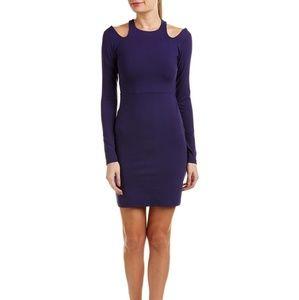 Susana Monaco Dark Purple Ivy Sheath Dress